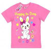 "15-140257 ""Happy Day"" Футболка для девочки, 1-4 года, розовый"