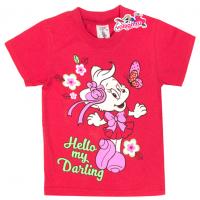 """15-140261 """"My Darling"""" Футболка для девочки, 1-4 года, красный"""