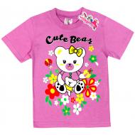 """15-140262 """"Bear"""" Футболка для девочки, 1-4 года, сиреневый"""