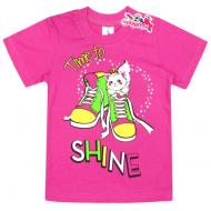 "15-140264 ""Shine"" Футболка для девочки, 1-4 года, т-розовый"
