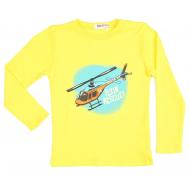 15-141115 Лонгслив для мальчика, 1-4 года, жёлтый