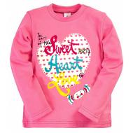 15-141211 Лонгслив для девочки, 1-4 года, розовый