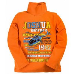 15-141308 Водолазка для мальчика, 1-4 года, оранжевый