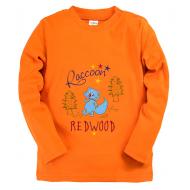 """15-14529 """"Roccoon"""" Лонгслив для мальчика, 1-4 года, оранжевый"""