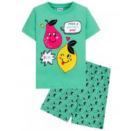 """15-252201 """"Fruits"""" Комплект для девочки, 2-5 лет, зеленый"""