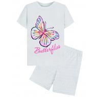 "15-252202 ""Butterflies"" Комплект для девочки, 2-5 лет, белый"