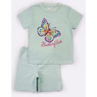"15-252202 ""Butterflies"" Комплект для девочки, 2-5 лет, бирюзовый"