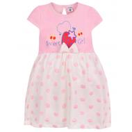 """15-25402 """"Sweet girl"""" Платье для девочки, 2-5 лет, св-розовый"""