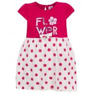 """15-25404 """" Платье для девочки, 2-5 лет, малиновый"""