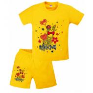 11-372234 Комплект для девочек, 3-7 лет, желтый