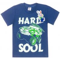 "15-480130 ""Hard Sool"" Футболка для мальчика, 4-8 лет, синий"