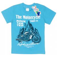 """15-480133 """"Motorcycle"""" Футболка для мальчика, 4-8 лет, бирюзовый"""