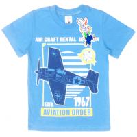 """15-480134 """"Air Craft"""" Футболка для мальчика, 4-8 лет, голубой"""