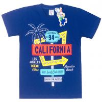 "15-480135 ""California"" Футболка для мальчика, 4-8 лет, синий"