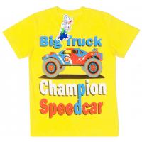 "15-480136 ""Big Truck"" Футболка для мальчика, 4-8 лет, желтый"