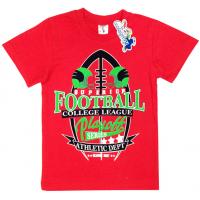 """15-480138 """"Football"""" Футболка для мальчика, 4-8 лет, красный"""