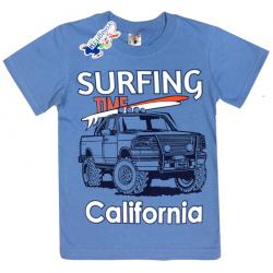 "15-480139 ""Surfing"" Футболка для мальчика, 4-8 лет, голубой"