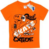"15-480142 ""Skate"" Футболка для мальчика, 4-8 лет, оранжевый"
