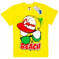 """15-480144 """"Beach"""" Футболка для мальчика, 4-8 лет, желтый"""