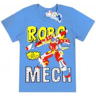 """15-480146 """"Robo Mech"""" Футболка для мальчика, 4-8 лет, голубой"""