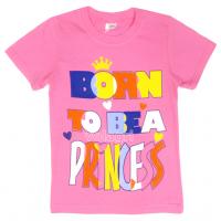 """15-480236 """"Born Princess"""" Футболка для девочки, 4-8 лет, розовый"""