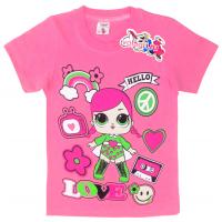 "15-480246 ""LOL Hello"" Футболка для девочки, 4-8 лет, розовый"