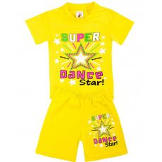 15-582216 Комплект для девочки, 5-8 лет, желтый