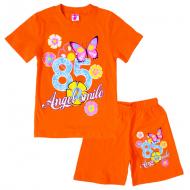 15-58224 Комплект для девочки, 5-8 лет, оранжевый