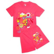 15-58234 Комплект для девочки, 5-8 лет, коралловый