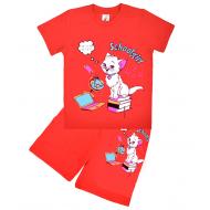 15-58236 Комплект для девочки, 5-8 лет, красный