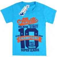 """15-8120103 """"Champions"""" Футболка для мальчика, 8-12 лет, бирюзовый"""