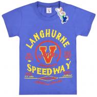 """15-8120104 """"Speedway"""" Футболка для мальчика, 8-12 лет, синий"""