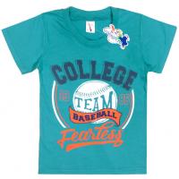 """15-8120108 """"College Team"""" Футболка для мальчика, 8-12 лет, т-зеленый"""