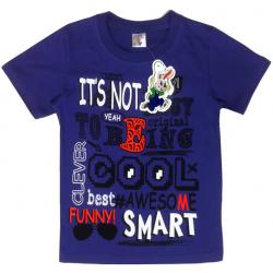 """15-480122 """"Smart"""" Футболка для мальчика, 4-8 лет, т-синий"""