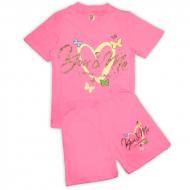15-582207 Комплект для девочки, 5-8 лет, розовый