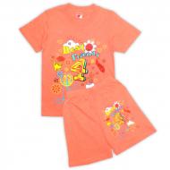 15-582211 Комплект для девочки, 5-8 лет, коралловый