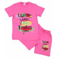 15-5822124 Комплект для девочек, 5-8 лет, розовый