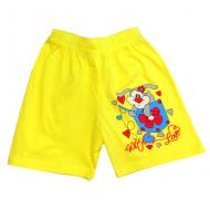 5842-8 Шорты для девочек, 5-8 лет, желтый