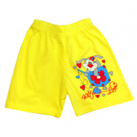 """5842-8 """"Зайчик в кармашке"""" шорты для девочек, 5-8 лет, желтый"""