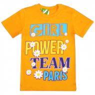 """15-8120215 """"Girl Power"""" Футболка для девочек, 8-12 лет, оранжевый"""