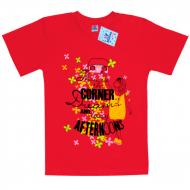 """15-9130204 """"Corner"""" футболка для девочек, 9-13 лет, гранат"""