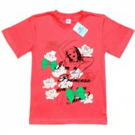 """15-9130206 """"Corner"""" футболка для девочек, 9-13 лет, коралл"""