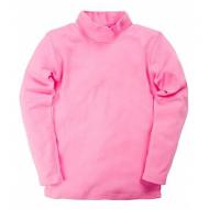 17-15804 Водолазка для девочек, рибана, розовый