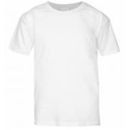 17-01201 Футболка однотонная, белый