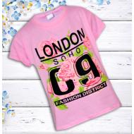 17-101302079 Футболка для девочки, 10-13 лет, розовый