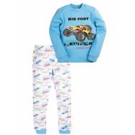 17-13231 Пижама для мальчика, интерлок, 6-9 лет, голубой