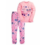 17-13232 Пижама для девочки, интерлок, 6-9 лет, розовый