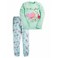 17-13234 Пижама для девочки, 6-9 лет, бирюза