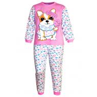 17-13239 Пижама для девочки, 6-9 лет, розовый