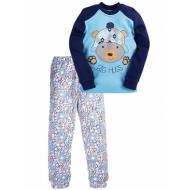 17-1324 Пижама для мальчика, 2-5 лет, голубой\синий